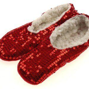 Capelli New York Red Sequin Slipper Socks Grippers
